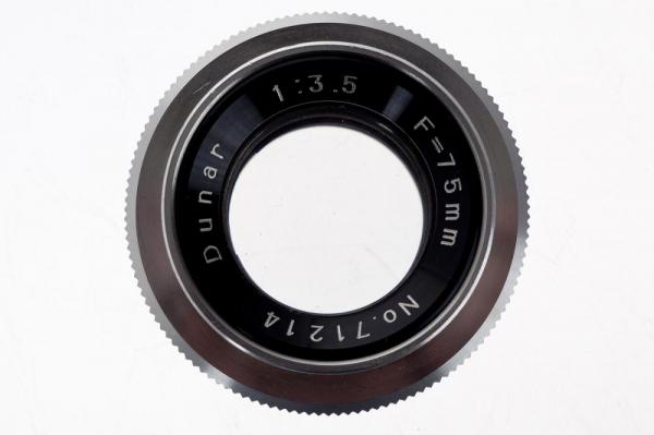 Dunar 75mm f/3.5 obiectiv pentru aparat de marit (S.H) 1