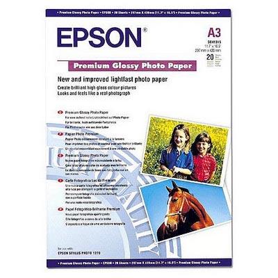 Epson hartie foto A3 (Glossy Premium) , 255g/mp, 20 coli (SO41315) [0]