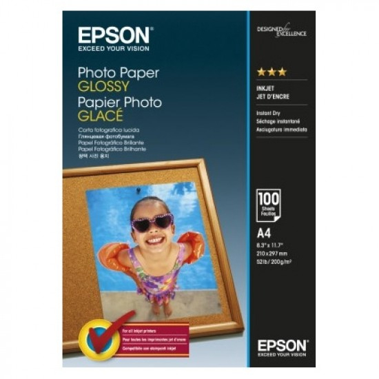 Epson Photo Paper Glossy C13S042540 A4, 100 coli, 200g 0