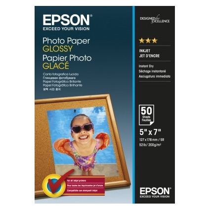 Epson Photo Paper Glossy C13S042545 13x18cm, 50 coli, 200g 0
