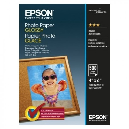 Epson Photo Paper Glossy C13S042549 10x15cm, 500 coli, 200g 0