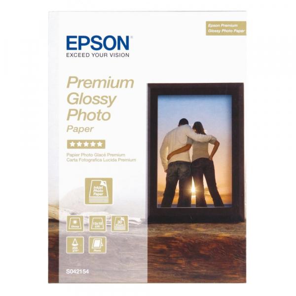 Epson Premium Glossy Hartie foto, 13 x 18 cm, 255g/m², 30 coli (C13S 042154) [0]