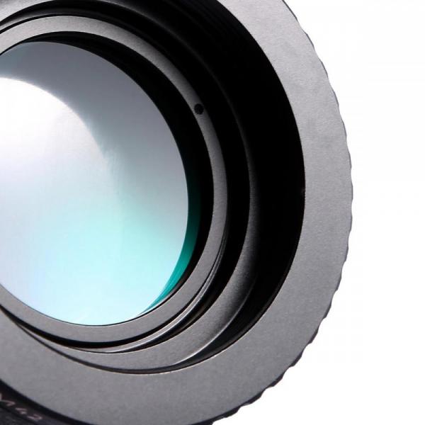FIKAZ , adaptor cu lentila de corectie de la obiective montura M42 la body montura Nikon F 2