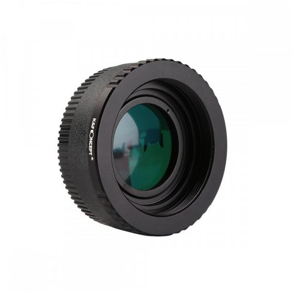 FIKAZ , adaptor cu lentila de corectie de la obiective montura M42 la body montura Nikon F 0