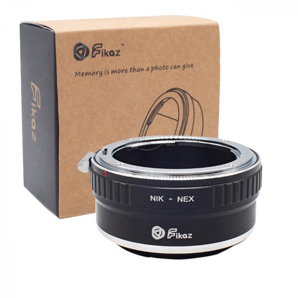 FIKAZ , adaptor de la obiective montura Nikon F la body montura Sony E (NEX) 0