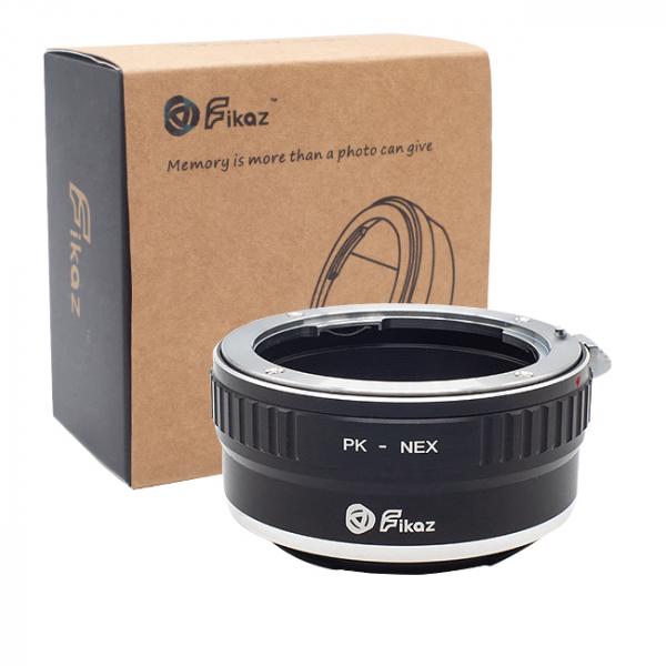 FIKAZ , adaptor de la obiective montura Pentax K la body montura Sony E ( NEX) 0