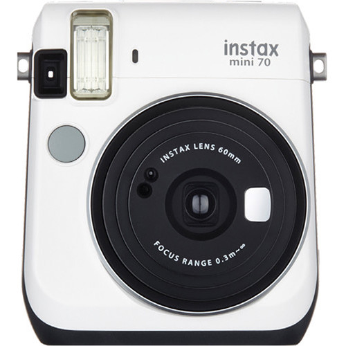 Fujifilm Instax Mini 70 - Aparat Foto Instant alb (Moon White) 0