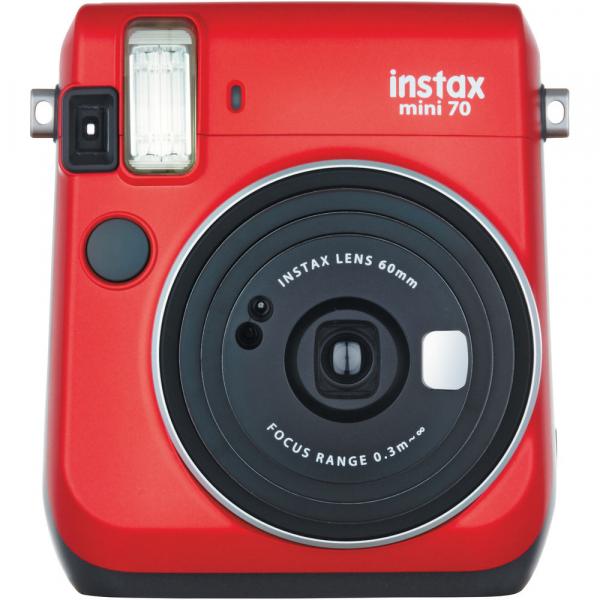 Fujifilm Instax Mini 70 - Aparat Foto Instant rosu (Passion Red) 0