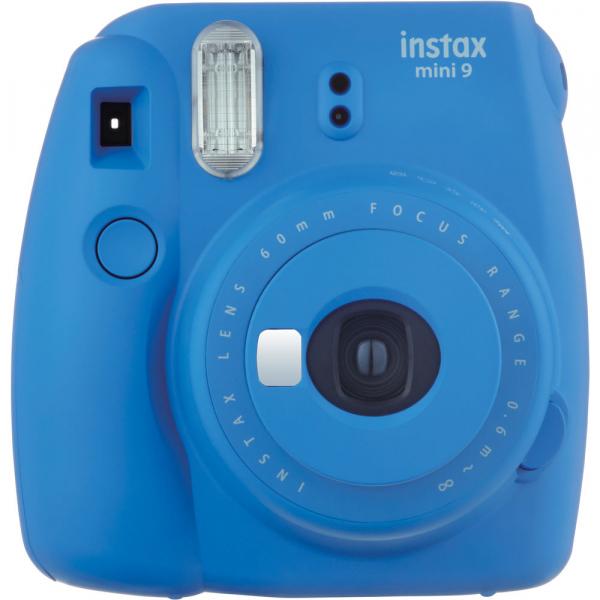 Fujifilm Instax Mini 9 - Aparat Foto Instant Albastru (Cobalt Blue) + Husa + Film 10 buc 1