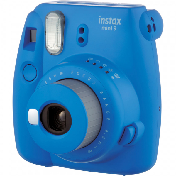 Fujifilm Instax Mini 9 - Aparat Foto Instant Albastru (Cobalt Blue) + Husa + Film 10 buc 2