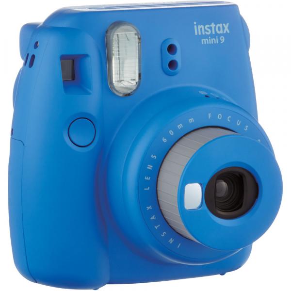 Fujifilm Instax Mini 9 - Aparat Foto Instant Albastru (Cobalt Blue) + Husa + Film 10 buc 3