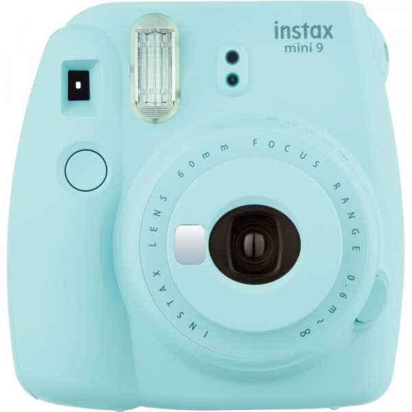 Fujifilm Instax Mini 9 - Aparat Foto Instant Albastru glaciar (Ice Blue) 0