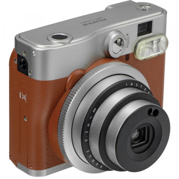 Fujifilm Instax Mini 90 Neo Classic - Aparat Foto Instant maro (Brown) 2