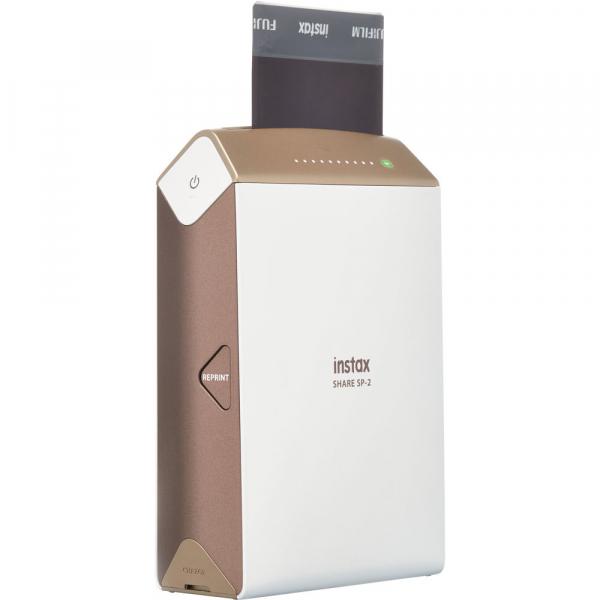 Fujifilm Instax Share SP-2 - imprimanta foto portabila Wi-Fi maro (Gold) 4