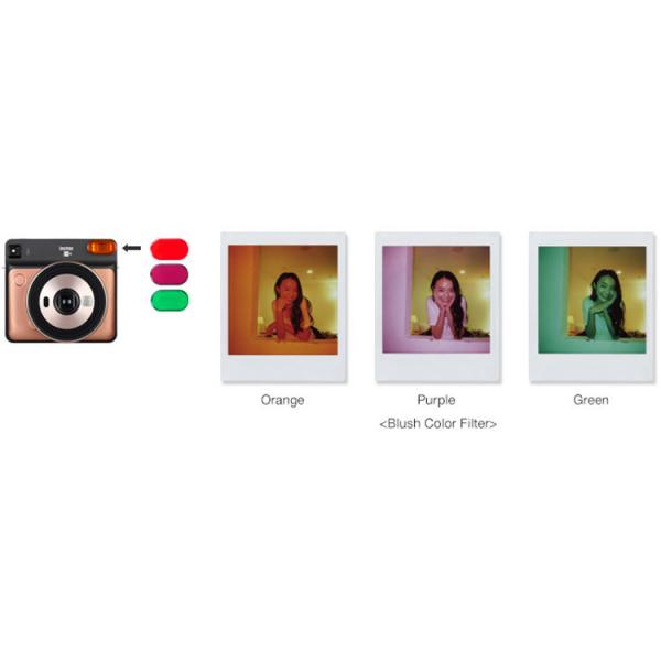 Fujifilm instax SQUARE SQ6 Instant Film Camera (Ruby Red) 4