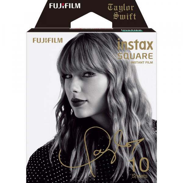 Fujifilm instax SQUARE Taylor Swift Edition -Instant Film Rama neagra (10 bucatii) 0
