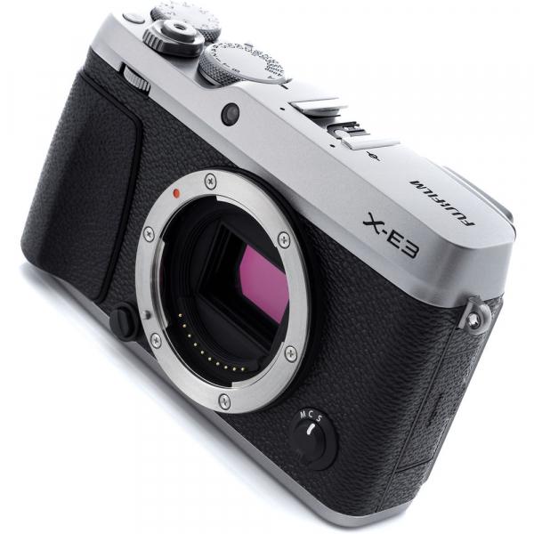 Fujifilm X-E3, Mirrorless 24MP, 4K, argintiu - Kit cu XC 16-50mm F3.5-5.6 OIS II Black [6]