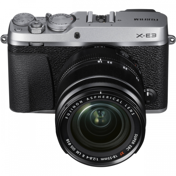 Fujifilm X-E3, Mirrorless 24MP, 4K body - argintiu + XF 18-55mm 2