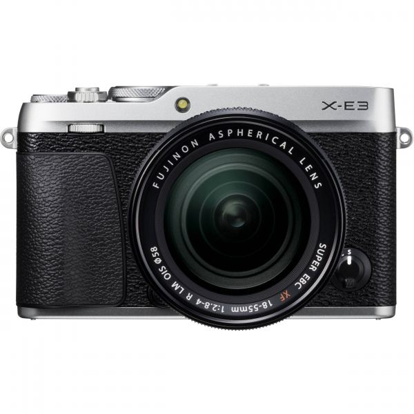 Fujifilm X-E3, Mirrorless 24MP, 4K body - argintiu + XF 18-55mm 1
