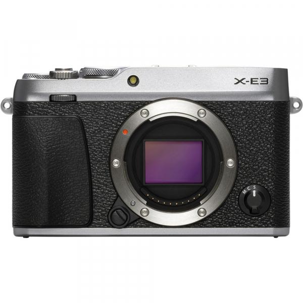 Fujifilm X-E3, Mirrorless 24MP, 4K + obiectiv XF 23mm f/2 R WR kit - argintiu [1]