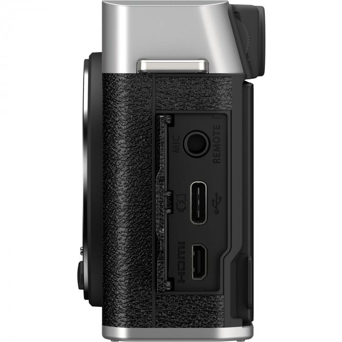 Fujifilm X-E4 , Mirrorless 26MP, 4K body - argintiu 7