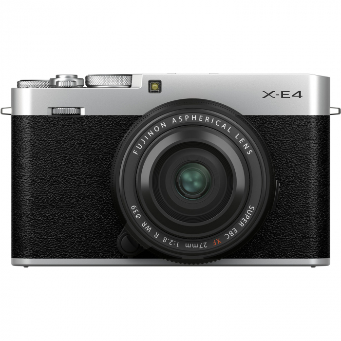 Fujifilm X-E4 , Mirrorless 26MP, 4K body - argintiu + XF 27mm F 2.8 R WR 0