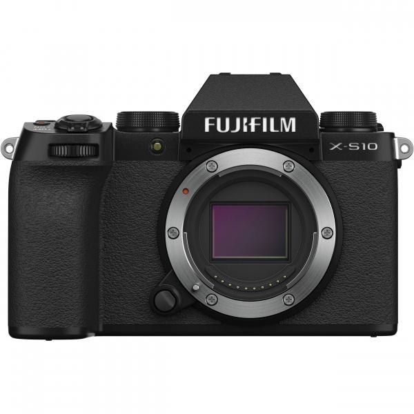 FUJIFILM X-S10 Mirrorless Digital Camera Kit cu Obiectiv XF 18-55mm Negru + Fujifilm 55-200mm F3.5-4.8 R LM OIS XF 7