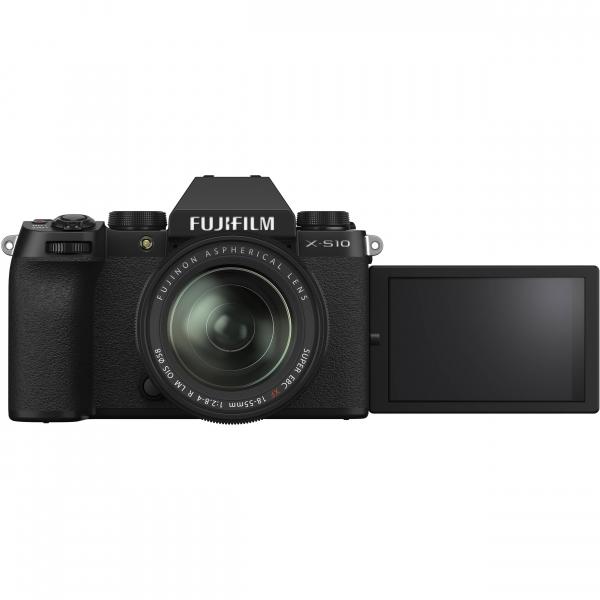 FUJIFILM X-S10 Mirrorless Digital Camera Kit cu Obiectiv XF 18-55mm Negru + Fujifilm 55-200mm F3.5-4.8 R LM OIS XF 4