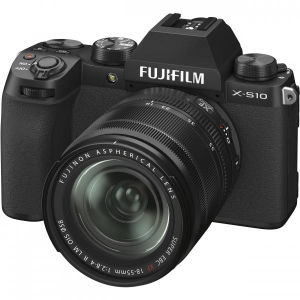 FUJIFILM X-S10 Mirrorless Digital Camera Kit cu Obiectiv XF 18-55mm Negru + Fujifilm 55-200mm F3.5-4.8 R LM OIS XF 2