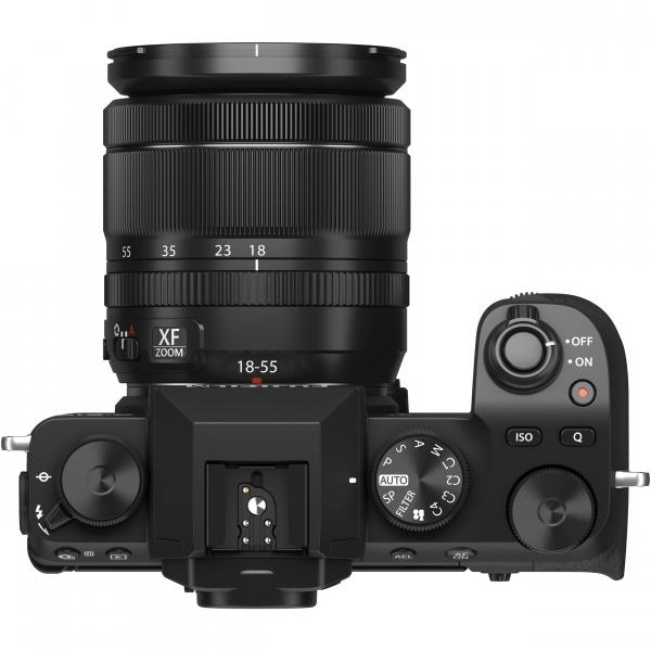 FUJIFILM X-S10 Mirrorless Digital Camera Kit cu Obiectiv XF 18-55mm Negru + Fujifilm 55-200mm F3.5-4.8 R LM OIS XF 6