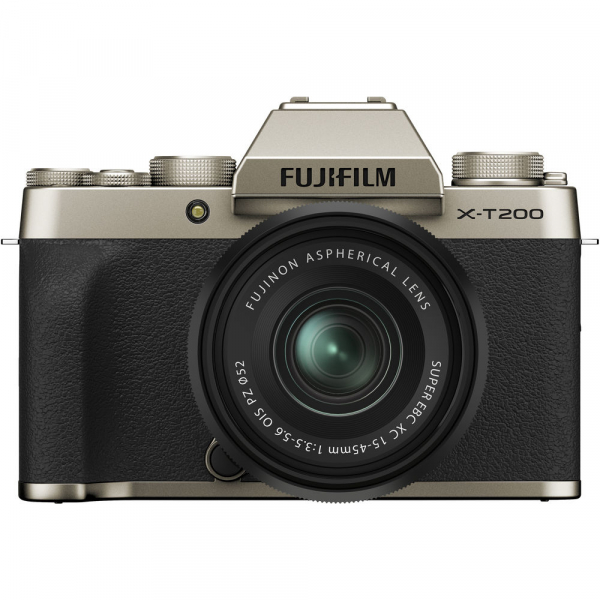Fujifilm X-T200 Aparat Foto Mirrorless 24MP + XC 15-45mm f/3.5-5.6 OIS - Champagne Gold 0