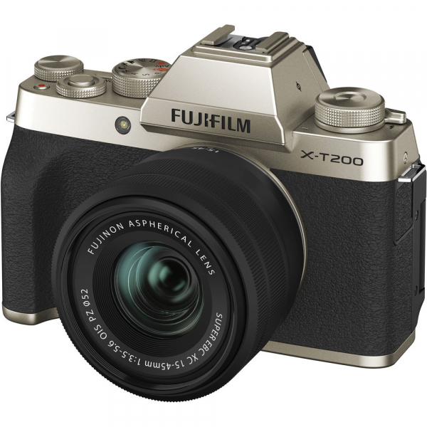Fujifilm X-T200 Aparat Foto Mirrorless 24MP + XC 15-45mm f/3.5-5.6 OIS - Champagne Gold 10