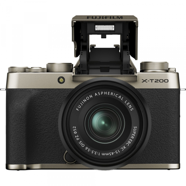 Fujifilm X-T200 Aparat Foto Mirrorless 24MP + XC 15-45mm f/3.5-5.6 OIS - Champagne Gold 1