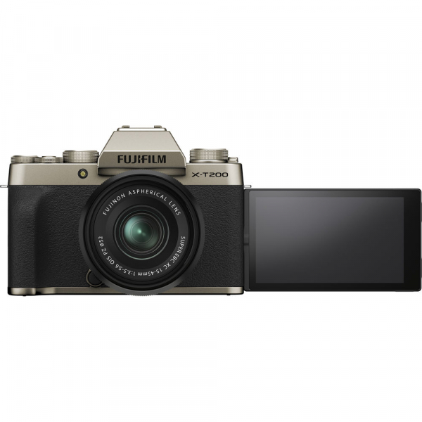 Fujifilm X-T200 Aparat Foto Mirrorless 24MP + XC 15-45mm f/3.5-5.6 OIS - Champagne Gold 9