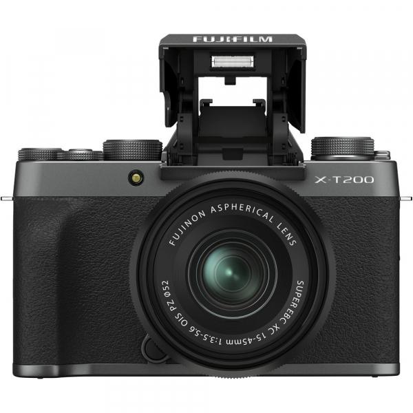 Fujifilm X-T200 Aparat Foto Mirrorless 24MP + XC 15-45mm f/3.5-5.6 OIS - Dark Silver 1