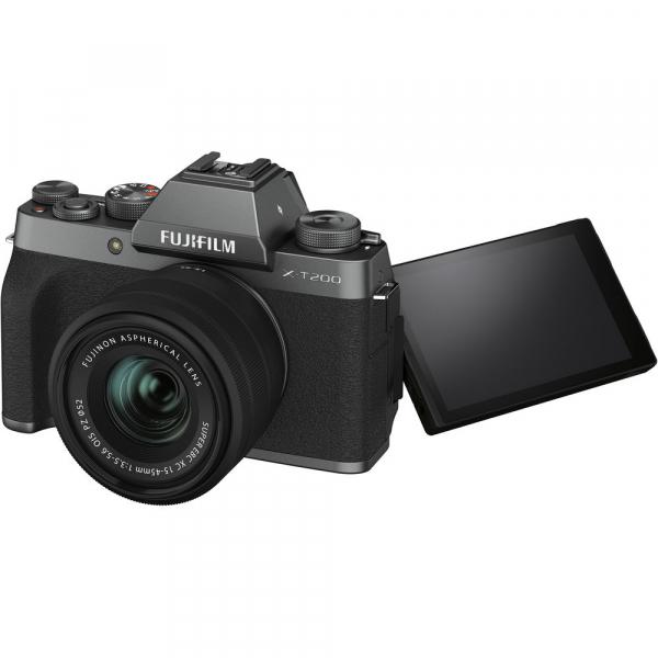 Fujifilm X-T200 Aparat Foto Mirrorless 24MP + XC 15-45mm f/3.5-5.6 OIS - Dark Silver 8