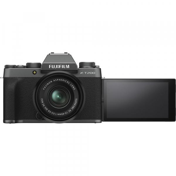Fujifilm X-T200 Aparat Foto Mirrorless 24MP + XC 15-45mm f/3.5-5.6 OIS - Dark Silver 9