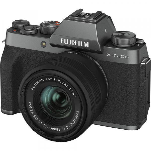 Fujifilm X-T200 Aparat Foto Mirrorless 24MP + XC 15-45mm f/3.5-5.6 OIS - Dark Silver 10