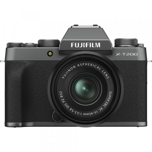 Fujifilm X-T200 Aparat Foto Mirrorless 24MP + XC 15-45mm f/3.5-5.6 OIS - Dark Silver 0