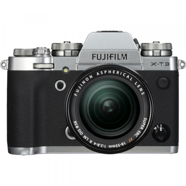 Fujifilm X-T3 Aparat Foto Mirrorless Kit XF18-55mm Senzor 26MP X-Trans 4K/60p Argintiu 0