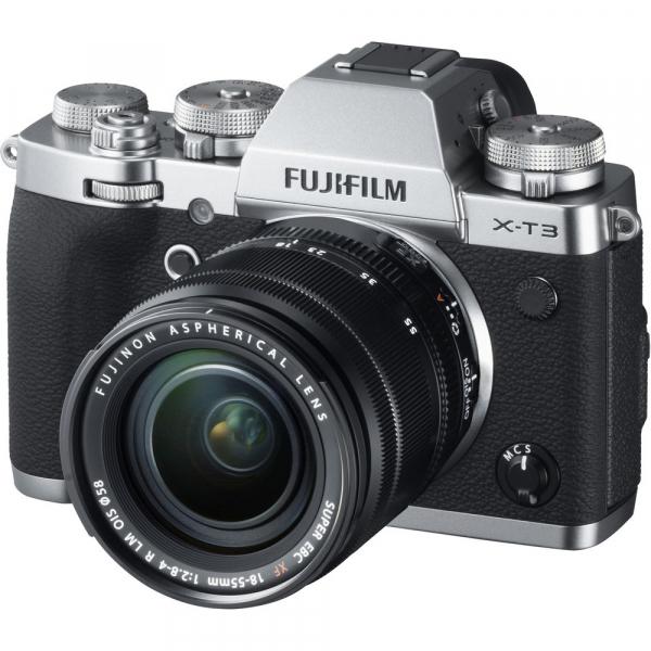 Fujifilm X-T3 Aparat Foto Mirrorless Kit XF18-55mm Senzor 26MP X-Trans 4K/60p Argintiu 1