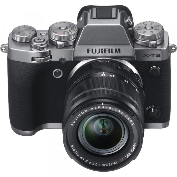 Fujifilm X-T3 Aparat Foto Mirrorless Kit XF18-55mm Senzor 26MP X-Trans 4K/60p Argintiu 6