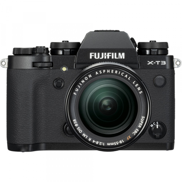 Fujifilm X-T3 Aparat Foto Mirrorless Kit XF18-55mm Senzor 26MP X-Trans 4K/60p Negru 0