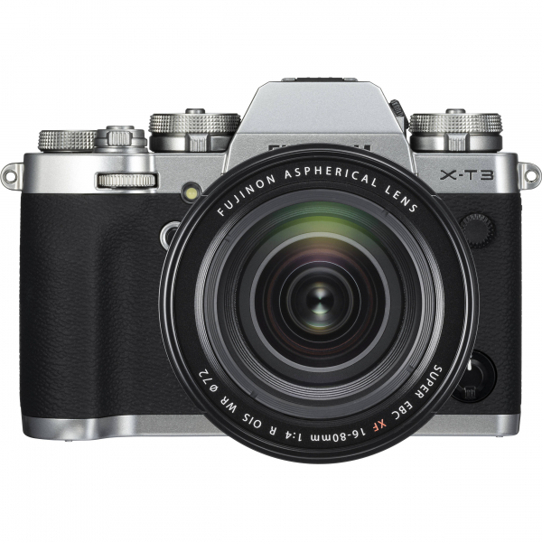 FUJIFILM X-T3 Silver Aparat foto Mirrorless Kit cu XF 16-80mm f/4 R OIS WR Lens Kit (Black) 1