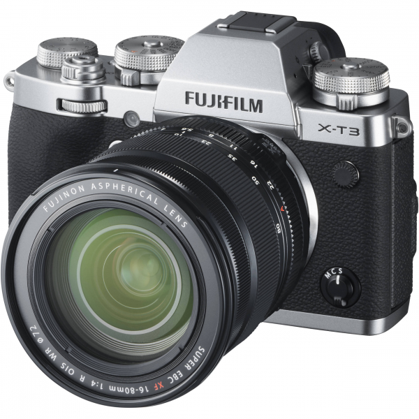 FUJIFILM X-T3 Silver Aparat foto Mirrorless Kit cu XF 16-80mm f/4 R OIS WR Lens Kit (Black) 0