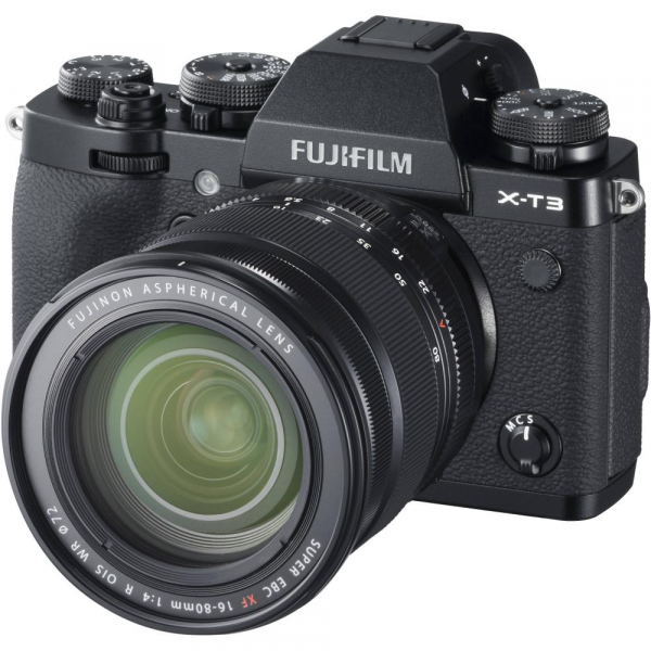 FUJIFILM X-T3 Black  Kit cu XF 16-80mm f/4 R OIS WR Lens Kit (Black) 0