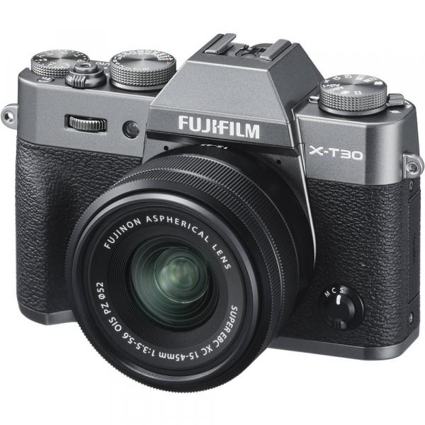 FUJIFILM X-T30 Mirrorless Kit + XC 15-45mm f/3.5-5.6 OIS PZ  - Charcoal Anthracite 1