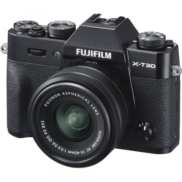 FUJIFILM X-T30 Mirrorless Kit + XC 15-45mm f/3.5-5.6 OIS PZ  - Negru 1