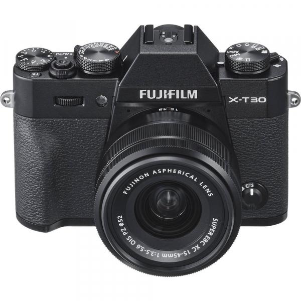 FUJIFILM X-T30 Mirrorless Kit + XC 15-45mm f/3.5-5.6 OIS PZ  - Negru 3