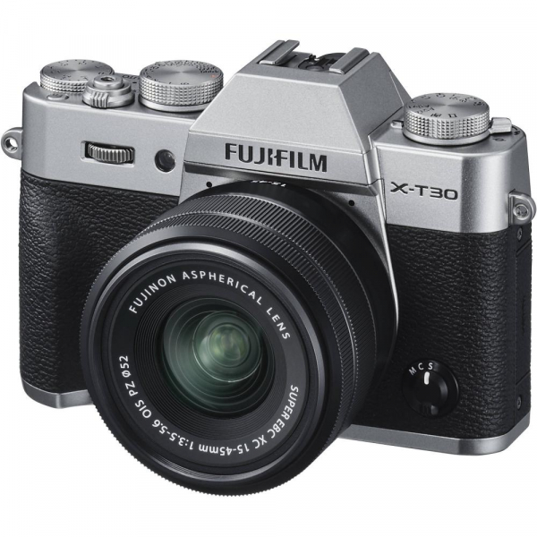 FUJIFILM X-T30 Mirrorless Kit + XC 15-45mm f/3.5-5.6 OIS PZ - Silver 1